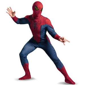 ハロウィンのスパイダーマンの衣装