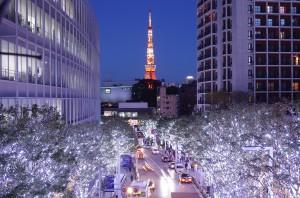 六本木けやき坂のクリスマスイルミネーション