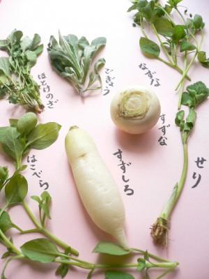七草粥に入れる春の七草