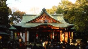 世田谷八幡宮で初詣