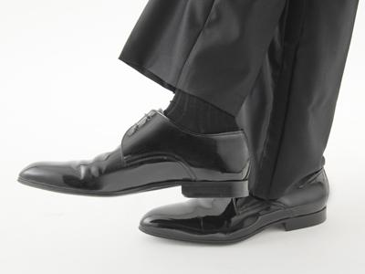 結婚式のスーツの靴