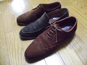 スウェードの靴はNG