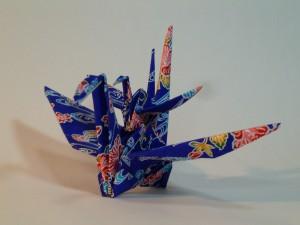 七夕飾りの折り鶴