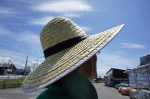 熱中症対策に帽子