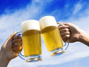 ビアガーデンでビール