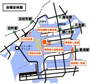 東京湾大華火祭の地図