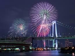 東京湾大華火祭の打ち上げ花火