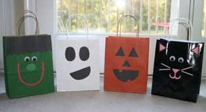 ハロウィンのお菓子ラッピング紙袋