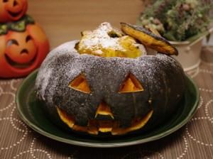 ハロウィンのかぼちゃケーキ