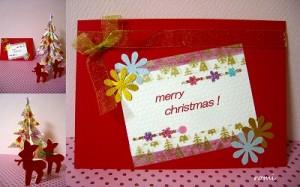 クリスマスカードを手作りで