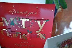 クリスマスカードのメッセージ