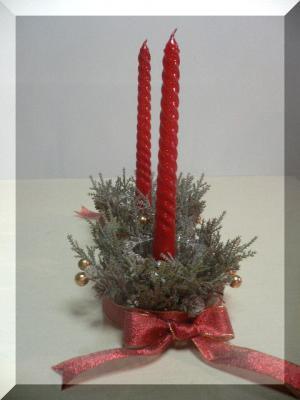クリスマスの飾りの手作りキャンドル