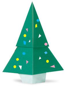 折り紙でのクリスマスツリー