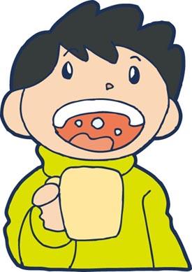 インフルエンザの予防にうがい