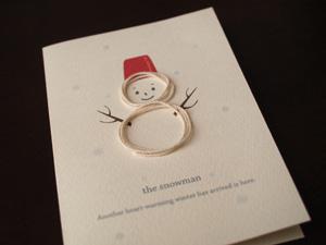 スノーマンの手作りクリスマスカード
