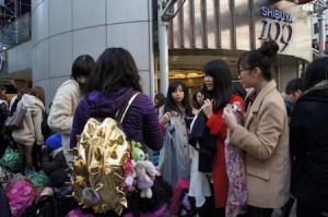 2015年の渋谷109の福袋交換