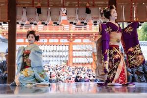 八坂神社の節分の舞踊