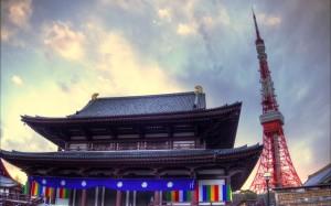 増上寺の節分での東京タワー