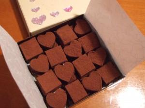 バレンタインに上司への箱入りのチョコ