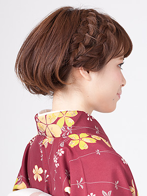 卒業式の髪型に編みこみ